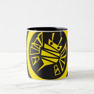 bee-button Two-Tone coffee mug