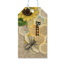 Bee Buzz Honeycomb Thank You Gift Tag