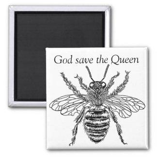 bee buzzart queen imán de nevera