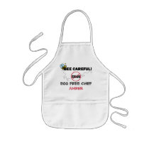 Bee Careful Bumblebee Egg Free Chef Kids' Apron