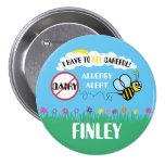 Bee Careful Dairy Allergy Alert Button