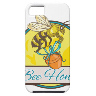 Bee Carrying Honey Pot Circle Drawing iPhone SE/5/5s Case