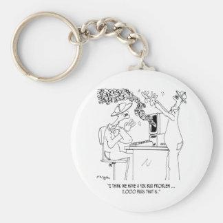 Bee Cartoon 6890 Keychain