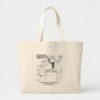 Bee Cartoon 6890 Large Tote Bag