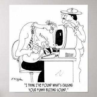 Bee Cartoon 6985 Poster