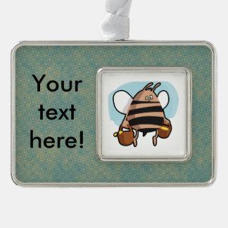 Bee cartoon christmas ornament
