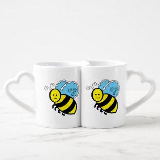 Bee cartoon coffee mug set
