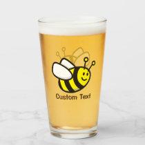 Bee Cartoon Glass