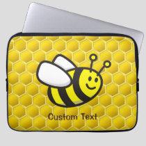 Bee Cartoon Laptop Sleeve