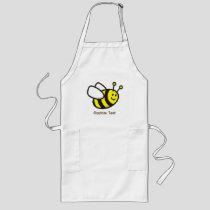 Bee cartoon long apron