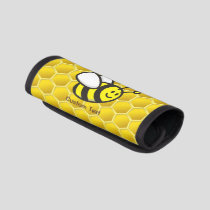 Bee Cartoon Luggage Handle Wrap