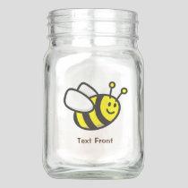 Bee Cartoon Mason Jar