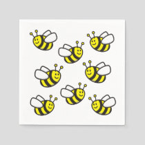 Bee Cartoon Napkins