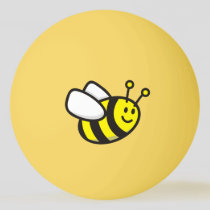 Bee cartoon ping pong ball