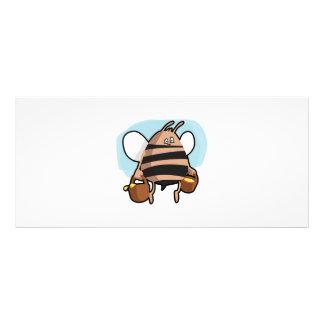 Bee cartoon rack card