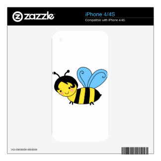 bee cartoon skin for the iPhone 4S