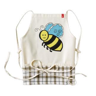 Bee cartoon zazzle HEART apron