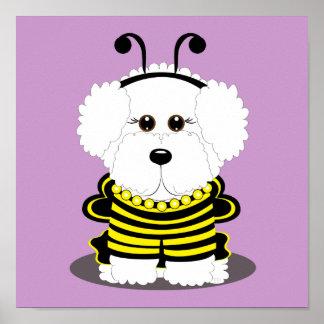 """BEE""chon Bichon Frise Halloween Posters"