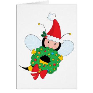 Bee Christmas Greeting Card