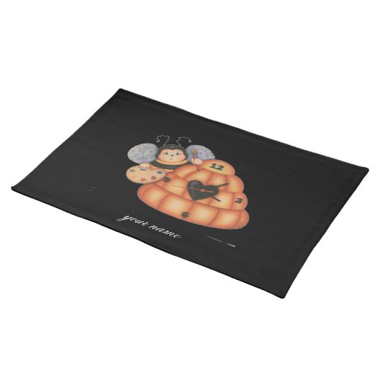 Bee clock placemat
