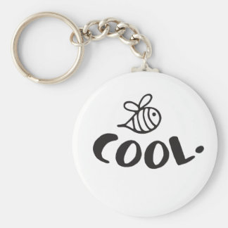 Bee Cool Positivity Humor Keychain