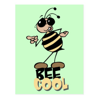 Bee Cool - Word Play Postcard