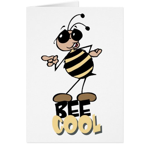 Bee Cool - Word Play Stationery Note Card