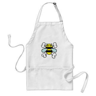bee & cross bones apron
