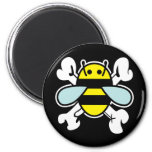 bee & cross bones refrigerator magnet