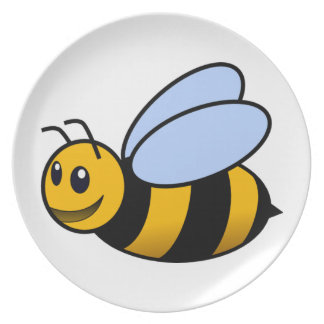 Bee - cute melamine plate