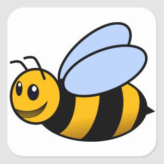 Bee - cute square sticker