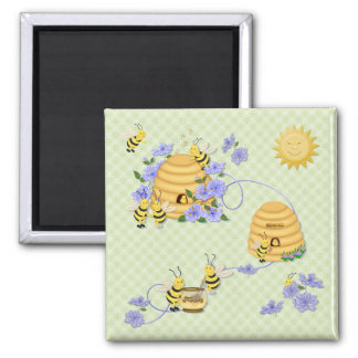 Bee Dance Party Magnet