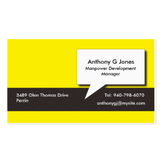 Bee Dependable Business Card