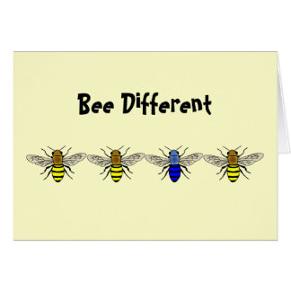 Bee Different Card