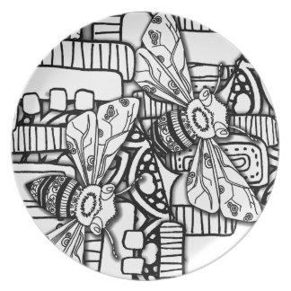 Bee Doodles Dinner Plate