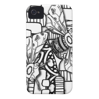 Bee Doodles iPhone 4 Case-Mate Case