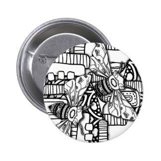 Bee Doodles Pinback Button