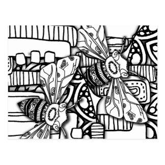 Bee Doodles Postcard