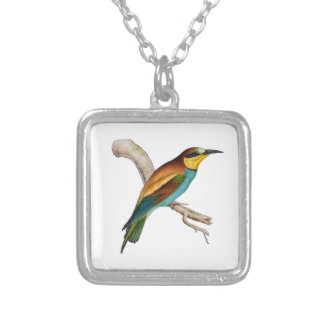 Bee-eat Square Pendant Necklace