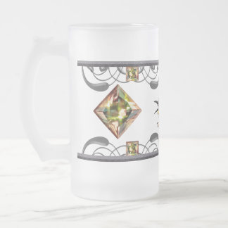 Bee Eater Bird Frosted Glass Beer Mug