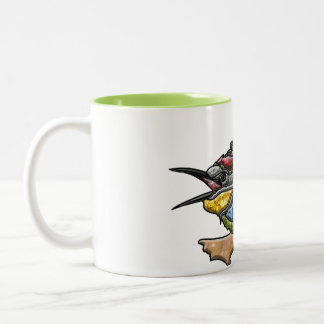 Bee Eater Bird Two-Tone Coffee Mug