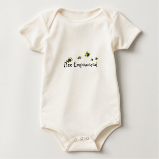 Bee Empowered infant design on back too) Baby Bodysuit