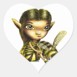 Bee Fairy Heart Sticker