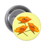 Bee Falling Poppies Buttons