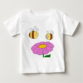 Bee Family at their Flower Baby T-Shirt