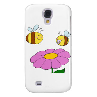 Bee Family at their Flower Samsung Galaxy S4 Cases