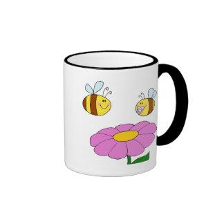 Bee Family at their Flower Ringer Mug