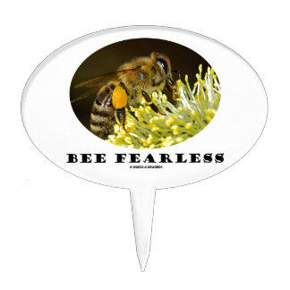 Bee Fearless (Bee On Yellow Flower) Cake Topper