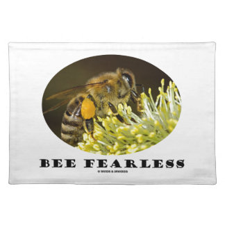 Bee Fearless (Bee On Yellow Flower) Cloth Placemat