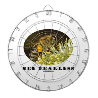 Bee Fearless (Bee On Yellow Flower) Dartboard With Darts